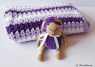 Textil - háčkovaná deka - 9642810_