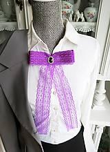 Mašľa Florencia - brošňa fialová, štras