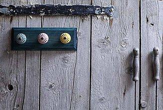 Nábytok - Věšák malý - modrá lazura - 9643792_