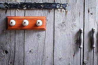 Nábytok - Věšák malý - oranžová lazura - 9643821_