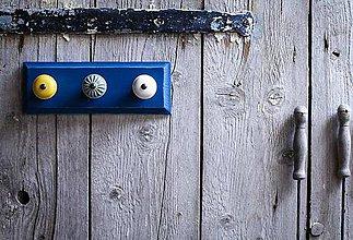 Nábytok - Věšák malý - modrý - 9643943_