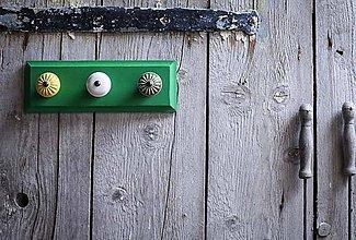 Nábytok - Věšák malý - zelený - 9643965_