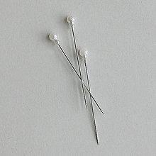 Galantéria - Ozdobný špendlík s guľatou postupnou hlavičkou - 55 mm !!! dlhšie špendlíky ......... - 9642662_
