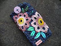 Na mobil - Z háčkovanej lúky, obal na mobil - 9644823_