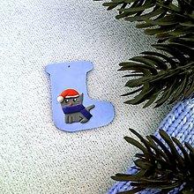 Dekorácie - Zvieracie vianočné ozdoby čižmička - tučniak - 9642560_