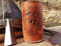 Nádoby - Krígeľ z hovädzej kože - 9644047_