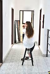 Košele - Simonka ľanová košeľa biela - 9648651_