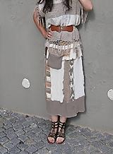 kapucíno, etno -vlnená sukňa