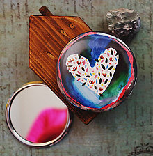 Zrkadielka - Bumpkinovej zrkadielko/ Srdce vesmírne - 9647153_