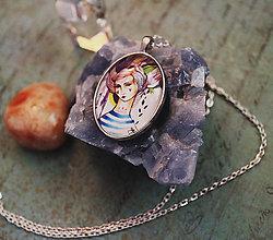 Náhrdelníky - Bumpkinovej šperk/ Námorníčka - 9647188_