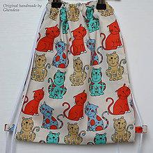 Detské tašky - Vak na záda - Barevné kočičky II - 9645925_