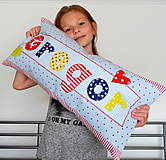 Textil - Vankúšik pre deti  - s menom - 9648184_