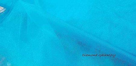 Textil - Tyl jemný - Tyrkys - 9646204_