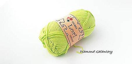 Galantéria - LORI NATURAL - 145 - Jabĺčkovo zelená - 9646854_