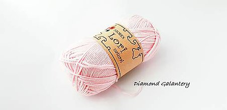 Galantéria - LORI NATURAL - 04 - Svetlo ružová - 9646940_
