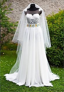 Šaty - Svadobné šaty s výšivkou - 9647796_