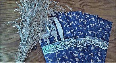 Úžitkový textil - Vrecúško na príbor - 9645904_