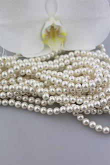 Korálky - perly korálky 6mm - perly z mušlí - 9648278_