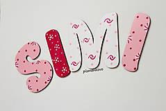 Tabuľky - SIMI 10 cm písmenká pre princezničku - 9648124_