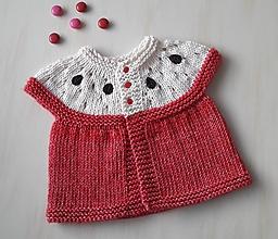 Detské oblečenie - Jabĺčkový kabátik - 9647446_
