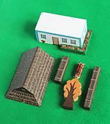 Hračky - Miniatúrna drevenica z Tekova (vypredané - v znovu v predaji od januára) - 9645517_