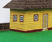 Hračky - Miniatúrna drevenica z Vlkolínca - 9645630_