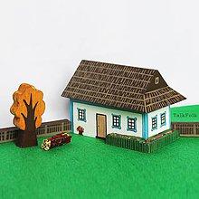 Hračky - Miniatúrna drevenica z Tekova (vypredané - v znovu v predaji od januára) - 9645596_