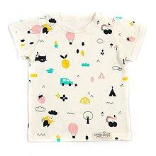 Detské oblečenie - BIO tričko Summer vibes - 9646451_