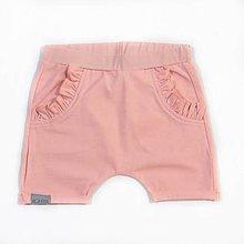 Detské oblečenie - Detské kraťasy ružové - 9646685_