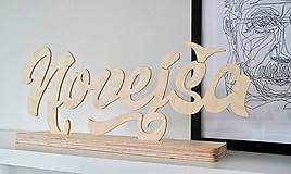 Dekorácie - drevený nápis Na mieru - 9647801_
