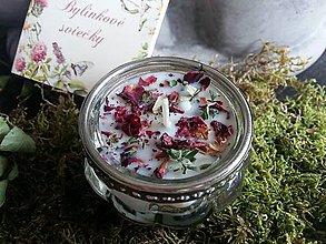 Svietidlá a sviečky - Kvetinový kalíšok - Ruža, Santalové drevo - 9645952_