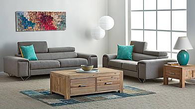 Dekorácie - Závesný drevený mozaikový 3D obraz - vzor 1 - 9645549_