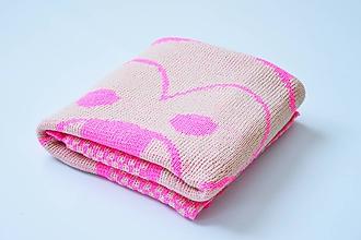 Úžitkový textil - Detská pletená deka - 9647107_