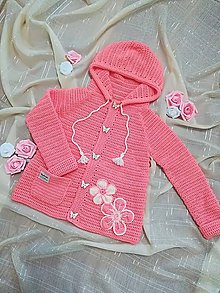 Detské oblečenie - Marhuľový svetrík - 9645112_