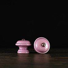 Nábytok - Úchytka - knopka lila - vzor č. 3 malá - 9648525_