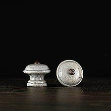 Nábytok - Úchytka - knopka šedá - vzor č. 3 malá - 9648548_
