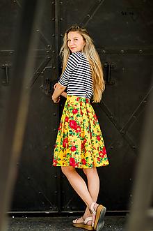 "Sukne - Sukňa ""gipsy flower""- yellow - 9647459_"