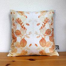 Úžitkový textil - eco-print obliečka na vankúš 3, 40 x 40 - 9646166_