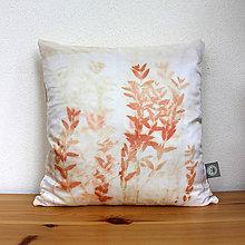 Úžitkový textil - eco-print obliečka na vankúš 4, 40 x 40 - 9646205_