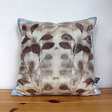 Úžitkový textil - eco-print obliečka na vankúš 2, 40 x 40 - 9646256_