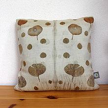 Úžitkový textil - eco-print obliečka na vankúš vlna 16, 40 x 40 - 9646348_