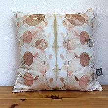 Úžitkový textil - eco-print obliečka na vankúš 17, 40 x 40 - 9646426_
