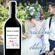 Darčeky pre svadobčanov - Svadobné etikety 18/2 - 10ks balenie - 9645142_