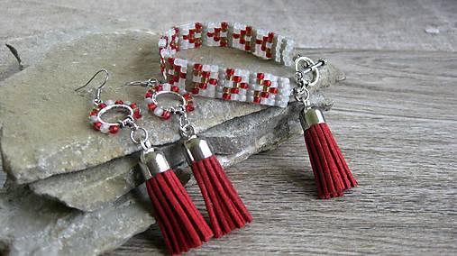 Sada - tkaný náramok a náušničky so strapcami č. 2221   TARRA ... 71a2604c0c