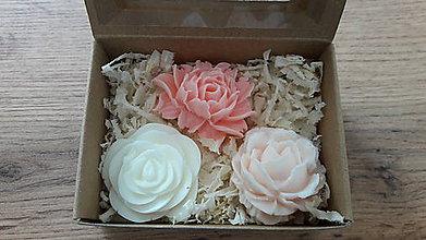Drobnosti - Krabička 3 dekoračných mydielok - 9646071_