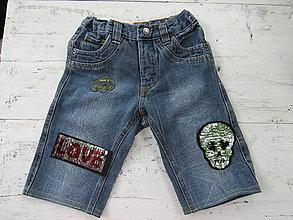 Detské oblečenie - Rifľové nohavice - otáčavé flitre - 9645320_