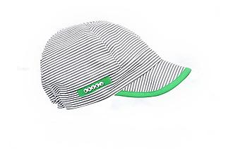 Detské čiapky - Letná šiltovka pásiky sivá & zelená - 9648581_