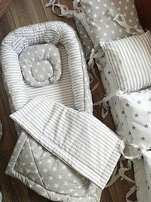 Textil - Set do postieľky šedá-biela - 9645998_