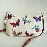 Kabelky - Ľanová motýliková kabelka - 9647575_