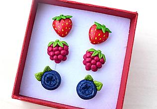 Sady šperkov - Sada náušníc - letné ovocie - 9651047_